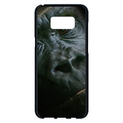 Gorilla Monkey Zoo Animal Samsung Galaxy S8 Plus Black Seamless Case by Nexatart
