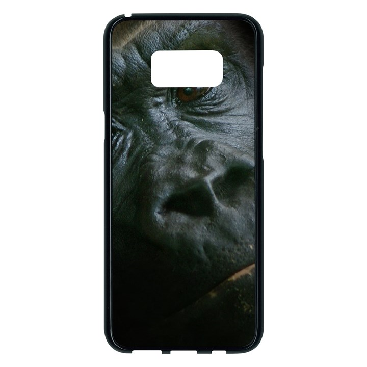 Gorilla Monkey Zoo Animal Samsung Galaxy S8 Plus Black Seamless Case