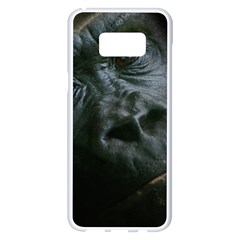 Gorilla Monkey Zoo Animal Samsung Galaxy S8 Plus White Seamless Case by Nexatart