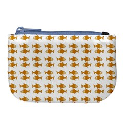 Small Fish Water Orange Large Coin Purse