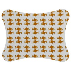 Small Fish Water Orange Jigsaw Puzzle Photo Stand (bow) by Alisyart