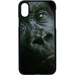 Gorilla Monkey Zoo Animal Apple iPhone X Seamless Case (Black) Front