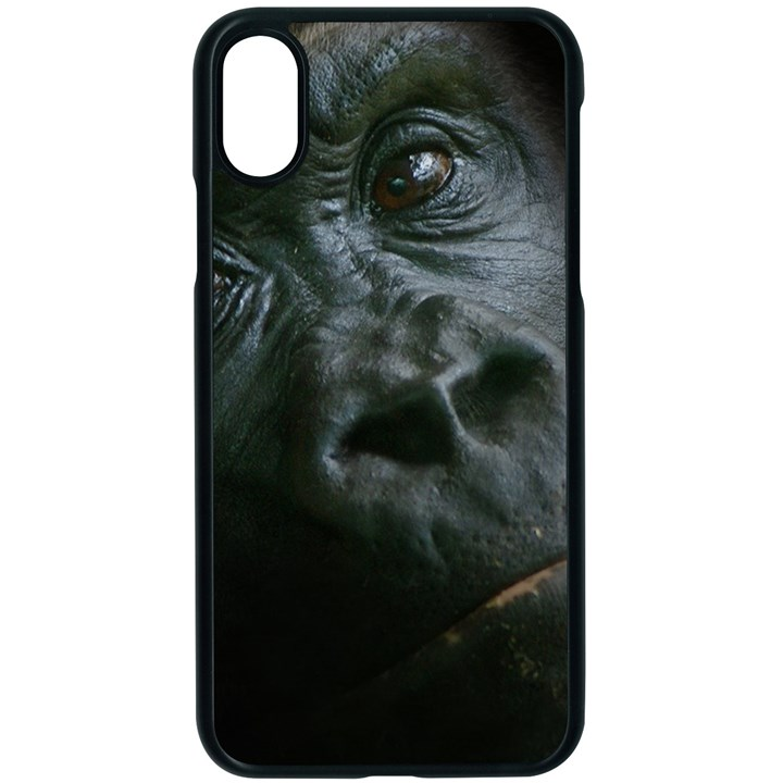 Gorilla Monkey Zoo Animal Apple iPhone X Seamless Case (Black)