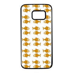 Small Fish Water Orange Samsung Galaxy S7 Black Seamless Case by Alisyart
