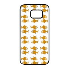 Small Fish Water Orange Samsung Galaxy S7 Edge Black Seamless Case by Alisyart