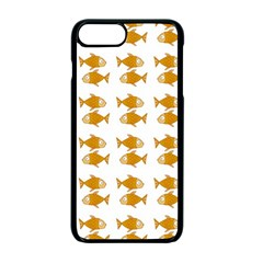Small Fish Water Orange Apple Iphone 7 Plus Seamless Case (black)