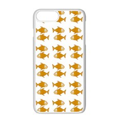 Small Fish Water Orange Apple Iphone 7 Plus Seamless Case (white)