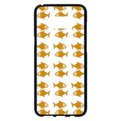 Small Fish Water Orange Samsung Galaxy S8 Plus Black Seamless Case by Alisyart