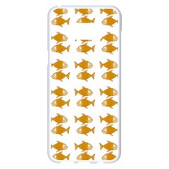 Small Fish Water Orange Samsung Galaxy S8 Plus White Seamless Case by Alisyart