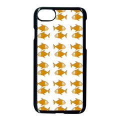 Small Fish Water Orange Apple Iphone 8 Seamless Case (black)