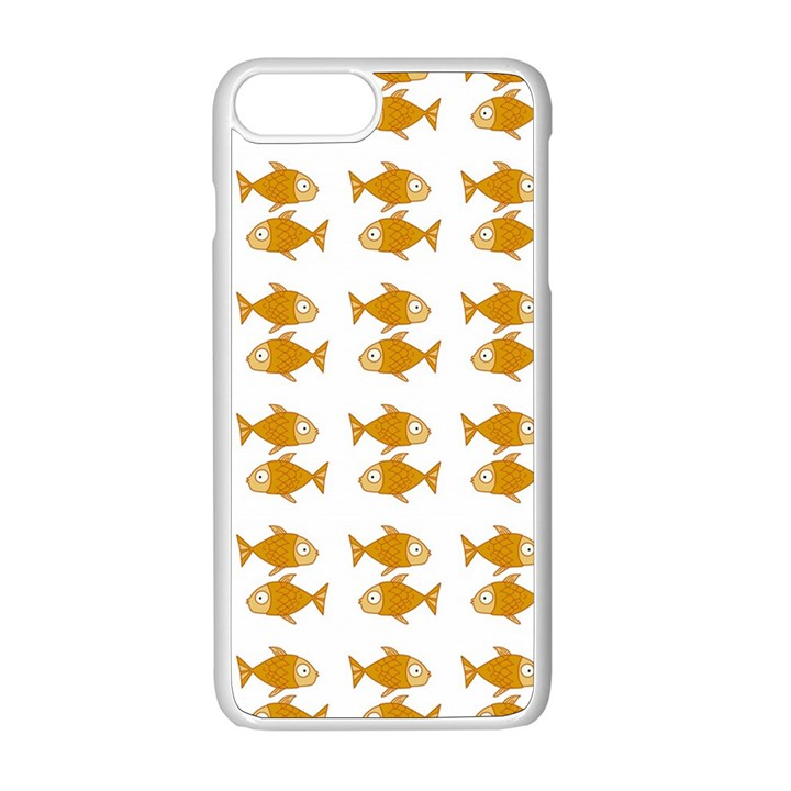 Small Fish Water Orange Apple iPhone 8 Plus Seamless Case (White)
