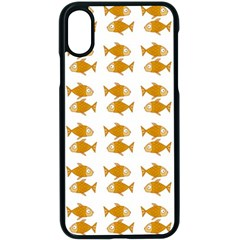 Small Fish Water Orange Apple Iphone X Seamless Case (black)
