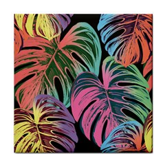 Leaves Tropical Jungle Pattern Tile Coasters by Nexatart
