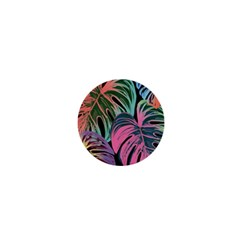 Leaves Tropical Jungle Pattern 1  Mini Buttons