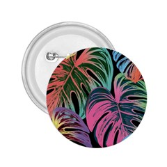 Leaves Tropical Jungle Pattern 2 25  Buttons by Nexatart