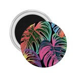 Leaves Tropical Jungle Pattern 2.25  Magnets Front