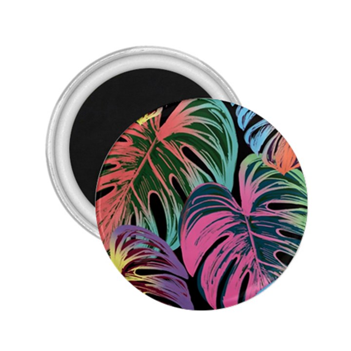 Leaves Tropical Jungle Pattern 2.25  Magnets