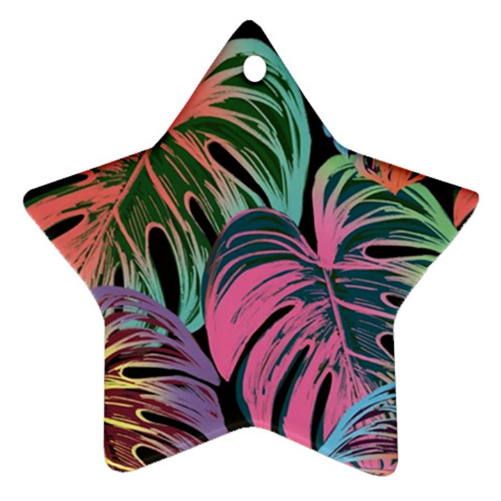 Leaves Tropical Jungle Pattern Ornament (Star)