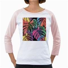 Leaves Tropical Jungle Pattern Girly Raglan