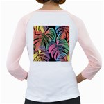 Leaves Tropical Jungle Pattern Girly Raglan Back