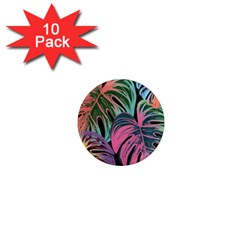 Leaves Tropical Jungle Pattern 1  Mini Magnet (10 Pack)