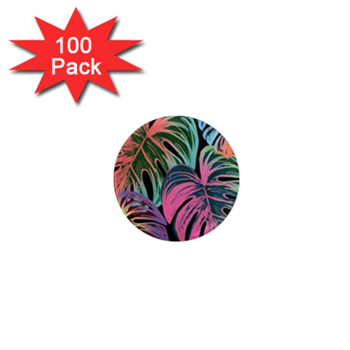Leaves Tropical Jungle Pattern 1  Mini Magnets (100 pack)