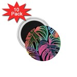Leaves Tropical Jungle Pattern 1.75  Magnets (10 pack)  Front