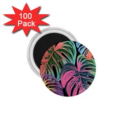 Leaves Tropical Jungle Pattern 1 75  Magnets (100 Pack)