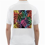 Leaves Tropical Jungle Pattern Golf Shirt Back
