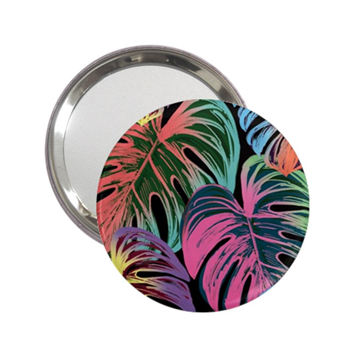 Leaves Tropical Jungle Pattern 2.25  Handbag Mirrors
