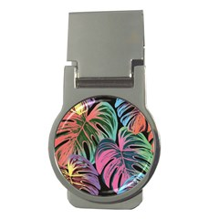 Leaves Tropical Jungle Pattern Money Clips (round)