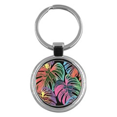 Leaves Tropical Jungle Pattern Key Chains (round)