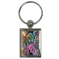 Leaves Tropical Jungle Pattern Key Chains (rectangle)