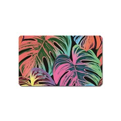 Leaves Tropical Jungle Pattern Magnet (name Card) by Nexatart