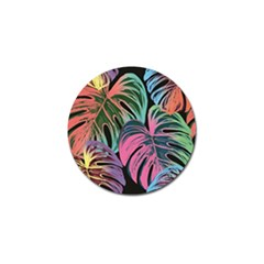 Leaves Tropical Jungle Pattern Golf Ball Marker