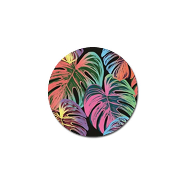 Leaves Tropical Jungle Pattern Golf Ball Marker (4 pack)