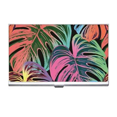 Leaves Tropical Jungle Pattern Business Card Holder