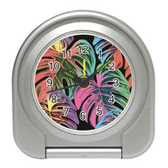 Leaves Tropical Jungle Pattern Travel Alarm Clock