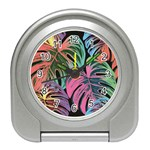 Leaves Tropical Jungle Pattern Travel Alarm Clock Front