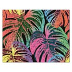 Leaves Tropical Jungle Pattern Rectangular Jigsaw Puzzl Front