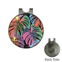 Leaves Tropical Jungle Pattern Hat Clips With Golf Markers