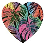 Leaves Tropical Jungle Pattern Jigsaw Puzzle (Heart) Front