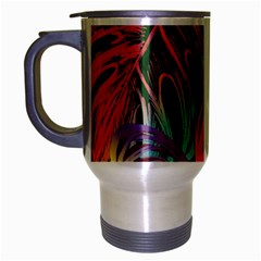 Leaves Tropical Jungle Pattern Travel Mug (silver Gray)