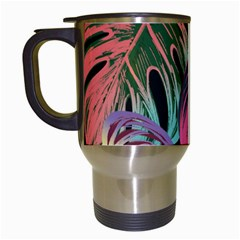Leaves Tropical Jungle Pattern Travel Mugs (white)