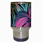 Leaves Tropical Jungle Pattern Travel Mugs (White) Center