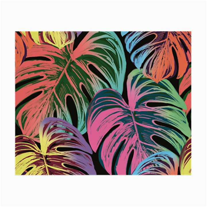 Leaves Tropical Jungle Pattern Small Glasses Cloth