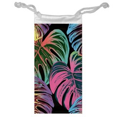 Leaves Tropical Jungle Pattern Jewelry Bag
