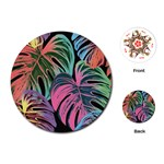 Leaves Tropical Jungle Pattern Playing Cards (Round) Front