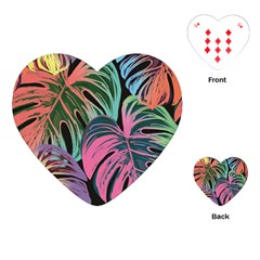 Leaves Tropical Jungle Pattern Playing Cards (heart)