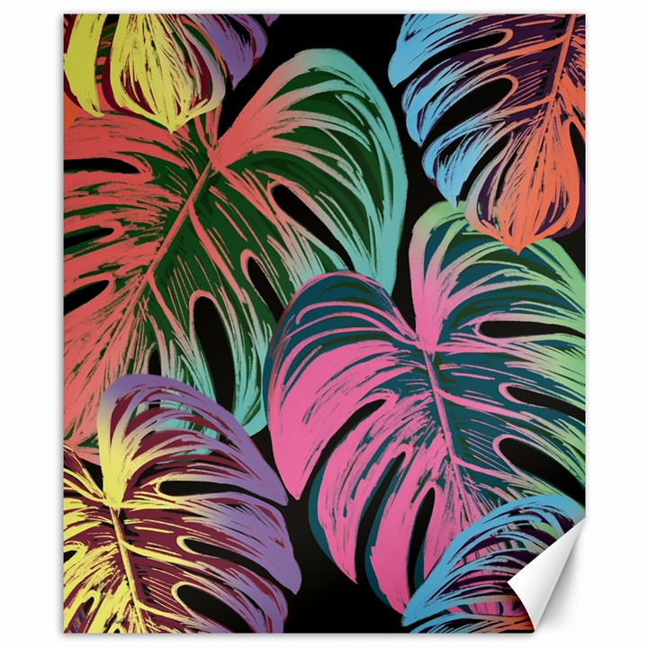 Leaves Tropical Jungle Pattern Canvas 8  x 10
